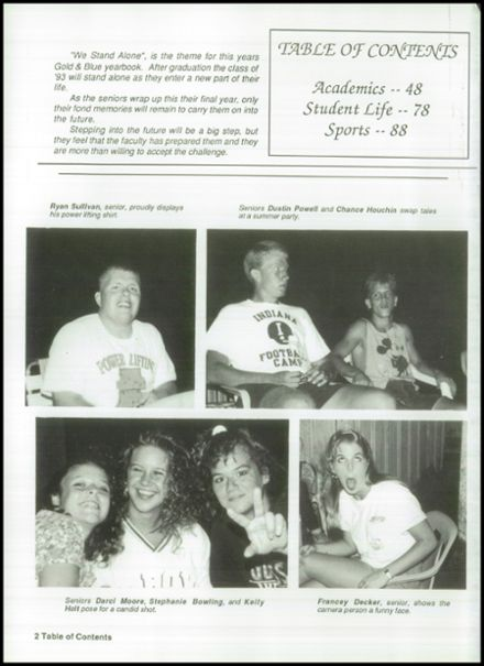 1993 Mitchell High School Yearbook Page 6