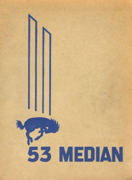 1953 Media High School Yearbook Cover