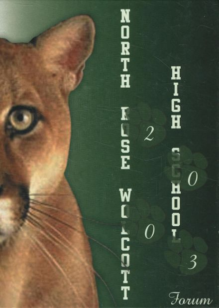 2003 North Rose-Wolcott High School Yearbook Cover