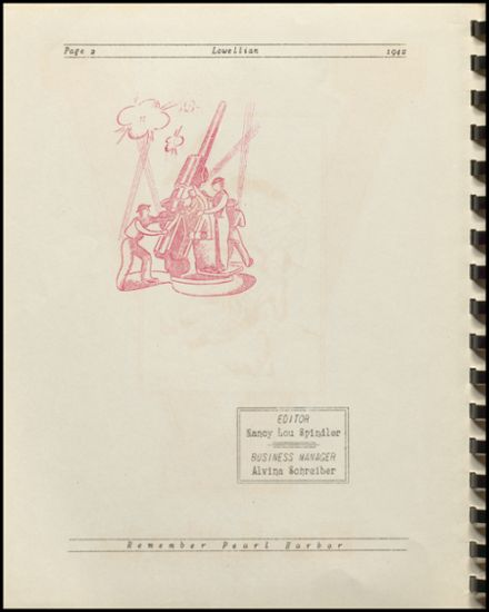 1942 Lowell High School Yearbook Page 4