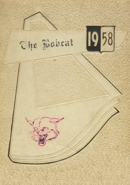1958 Marshall High School Yearbook Cover