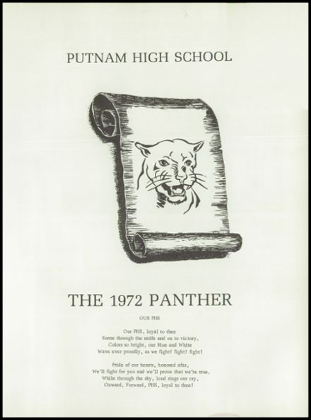 1972 Putnam High School Yearbook Page 5