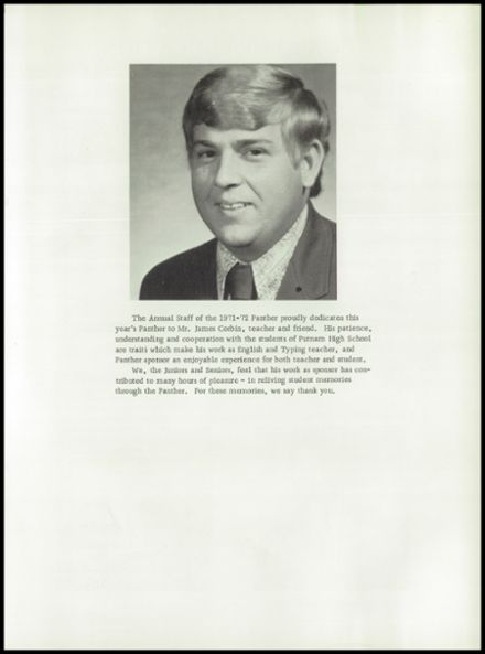 1972 Putnam High School Yearbook Page 7