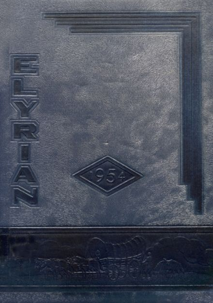 1954 Elyria High School Yearbook Cover