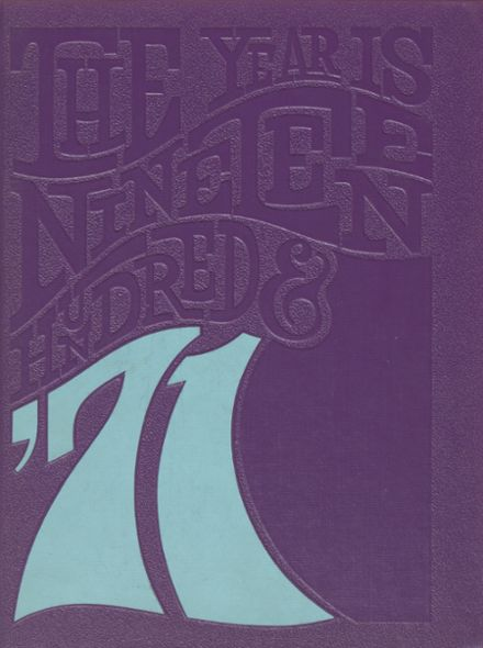 1971 Penn Joint High School Yearbook Cover