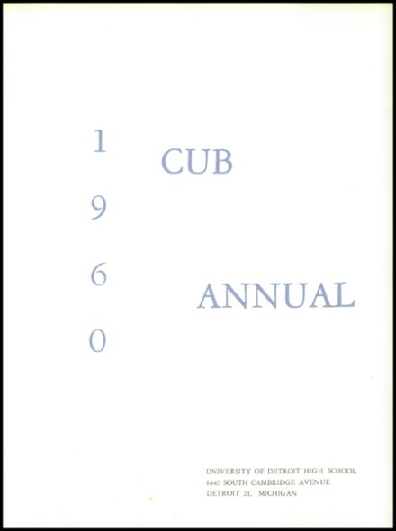 1960 University of Detroit High School Yearbook Page 5