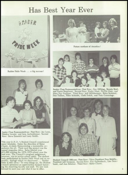 1979 Notre Dame High School Yearbook Page 9
