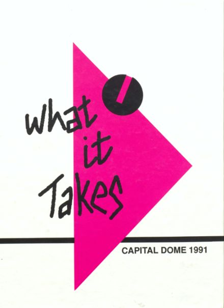 1991 Capital High School Yearbook Cover