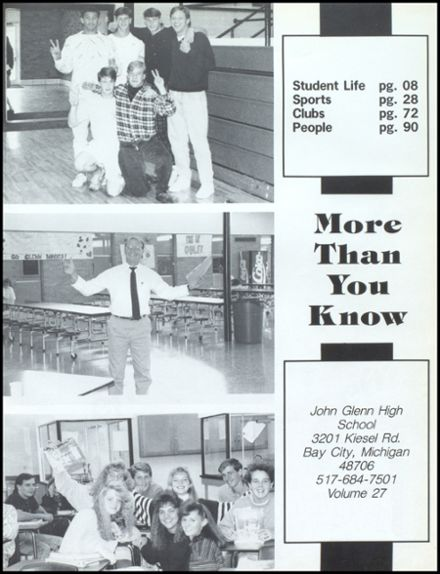 1991 John Glenn High School Yearbook Page 5