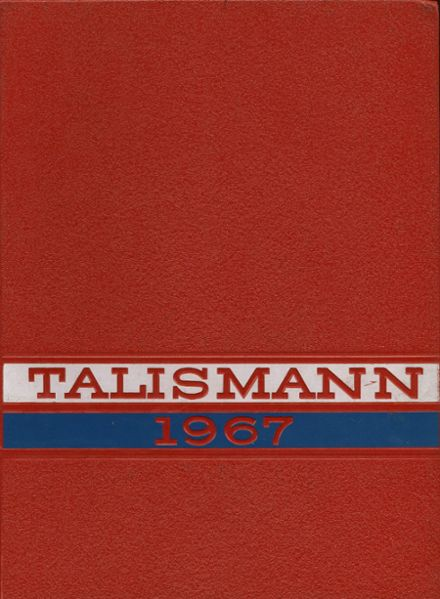 1967 Mann High School Yearbook Cover