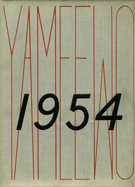 1954 San Jacinto High School Yearbook Cover