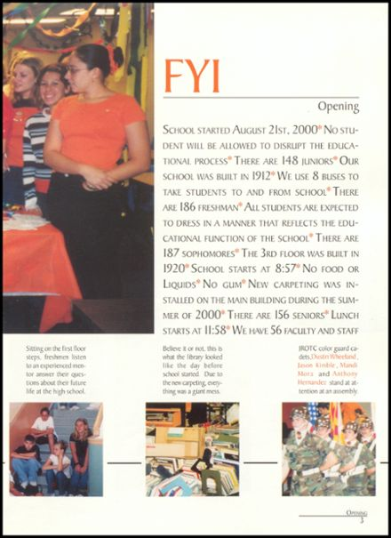 2001 Globe High School Yearbook Page 7