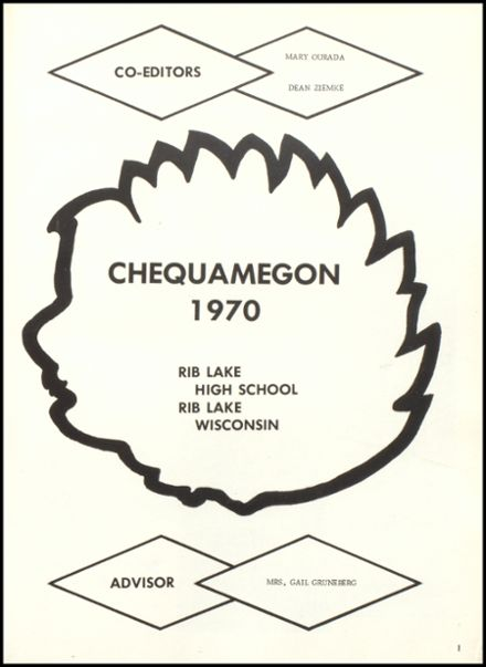 1970 Rib Lake High School Yearbook Page 5