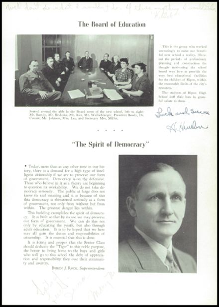 1940 Ripon High School Yearbook Page 7