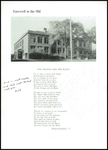 1940 Ripon High School Yearbook Page 8