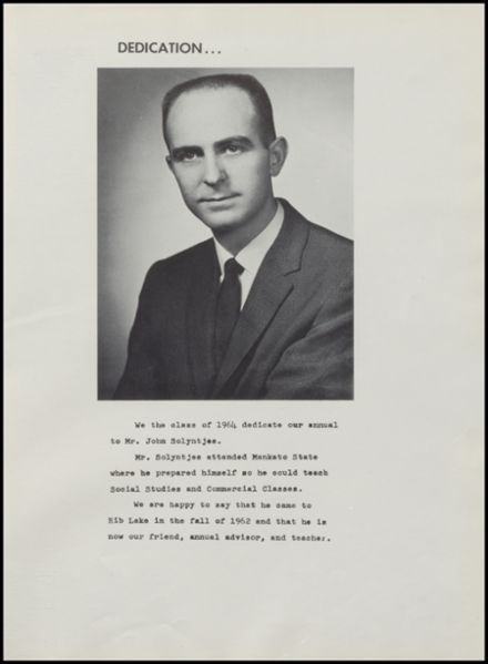 1963 Rib Lake High School Yearbook Page 5