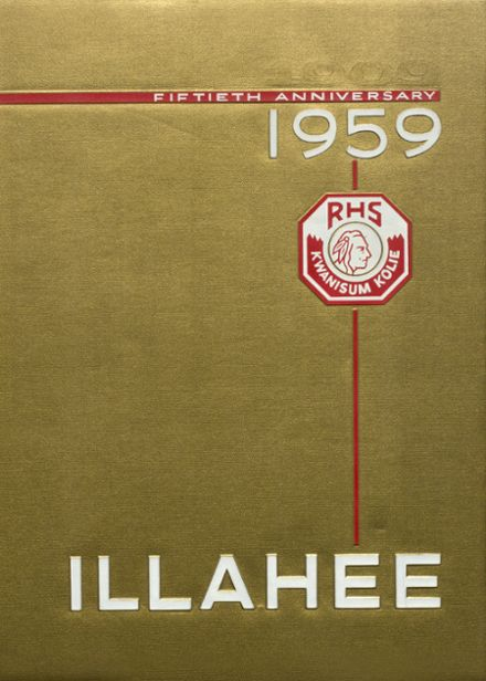 1959 Renton High School Yearbook Cover