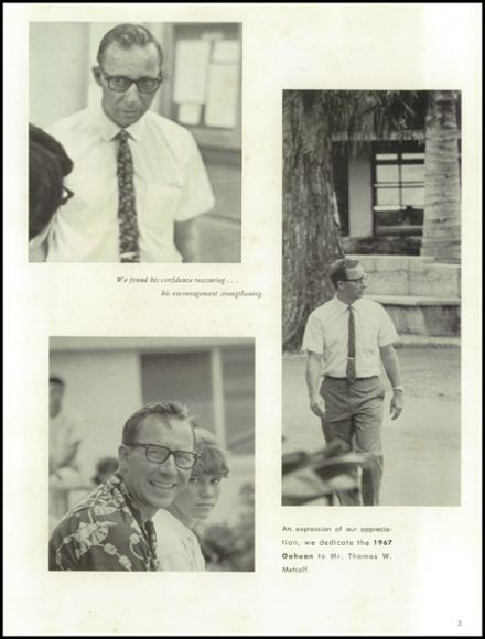 1967 Punahou School Yearbook Page 7