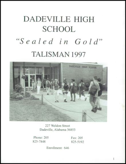 1997 Dadeville High School Yearbook Page 5