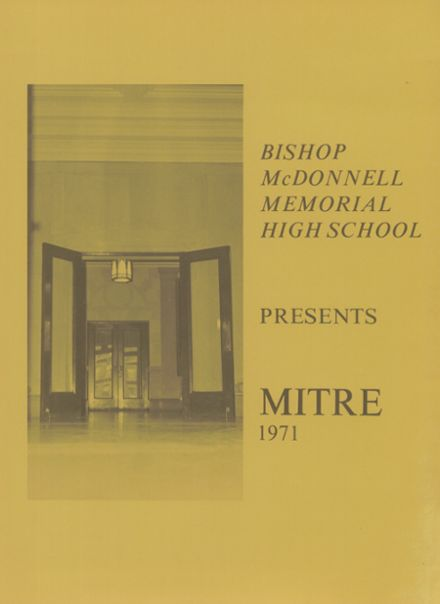 1971 Bishop McDonnell Memorial High School Yearbook Page 5