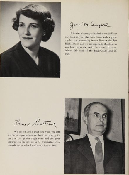 1954 Rye High School Yearbook Page 8