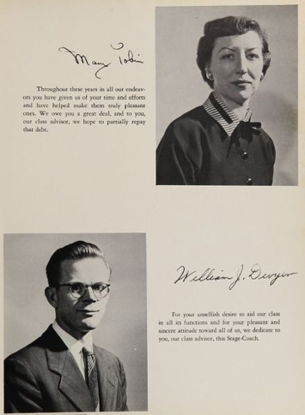 1954 Rye High School Yearbook Page 9