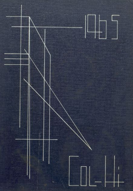 1965 College High School Yearbook Cover
