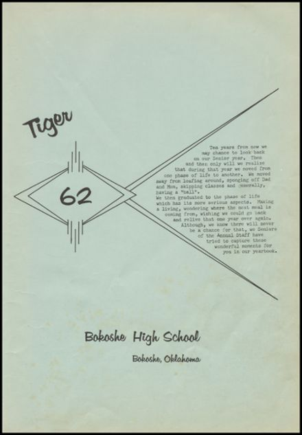 1962 Bokoshe High School Yearbook Page 5