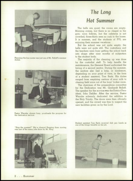 1966 Fox Valley Lutheran High School Yearbook Page 6