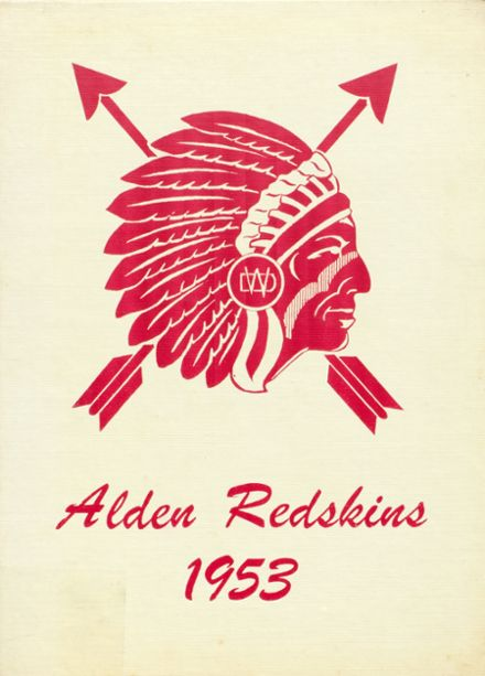 1953 Alden High School Yearbook Cover