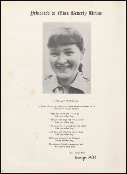 1952 Lowell High School Yearbook Page 6