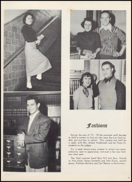 1952 Lowell High School Yearbook Page 9
