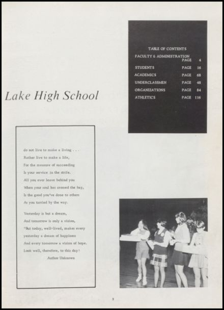1970 Rice Lake High School Yearbook Page 7