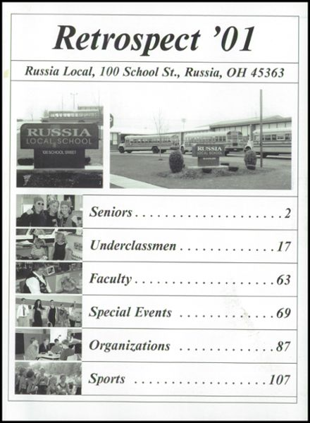 2001 Russia Local High School Yearbook Page 5