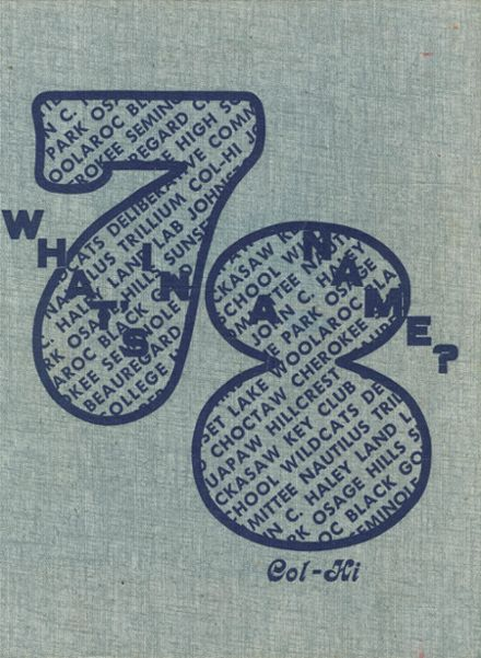 1978 College High School Yearbook Cover