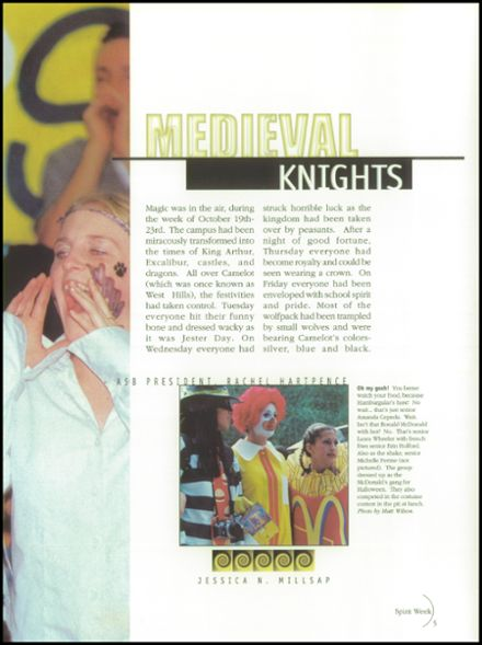 1999 West Hills High School Yearbook Page 9