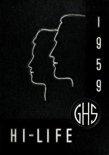 1959 Greenville High School Yearbook Cover