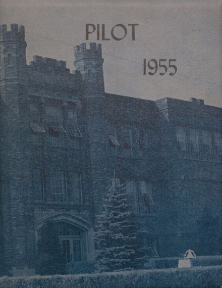 1955 North Judson-San Pierre High School Yearbook Cover