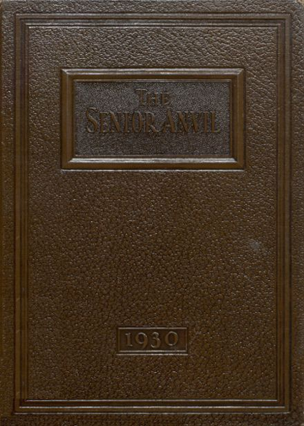 1930 Washington High School Yearbook Cover