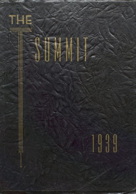 1939 Chester High School Yearbook Cover