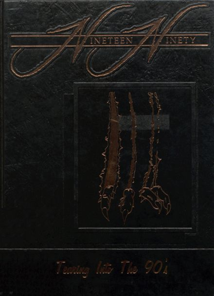 1990 Afton High School Yearbook Cover