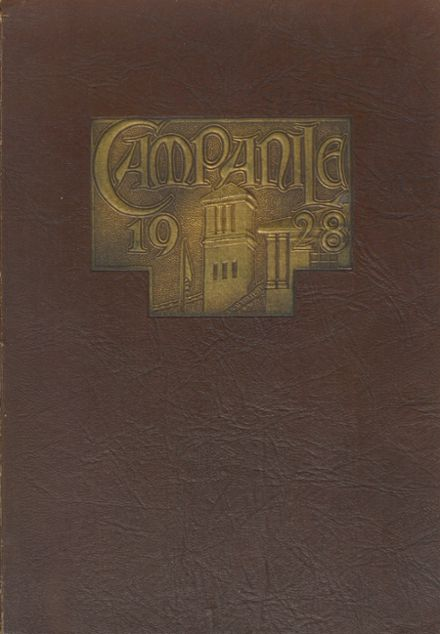 1928 Woodrow Wilson High School Yearbook Cover