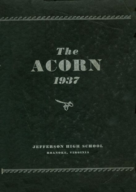 1937 Jefferson High School Yearbook Cover