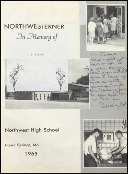 1965 Northwest High School Yearbook Page 5