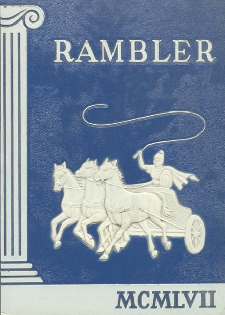 1957 Laurel High School Yearbook Cover