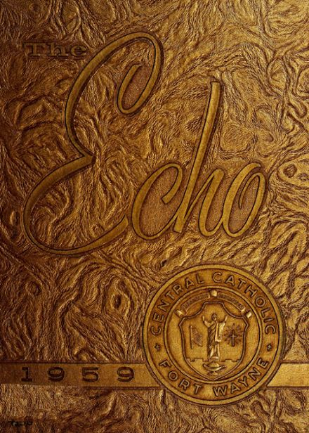 1959 Central Catholic High School Yearbook Cover