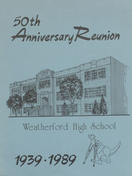 1989 Weatherford High School Yearbook Cover