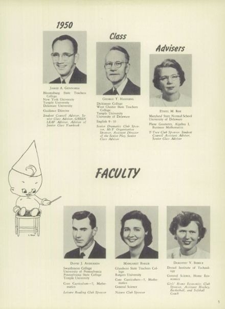 1950 Mt. Pleasant High School Yearbook Page 5