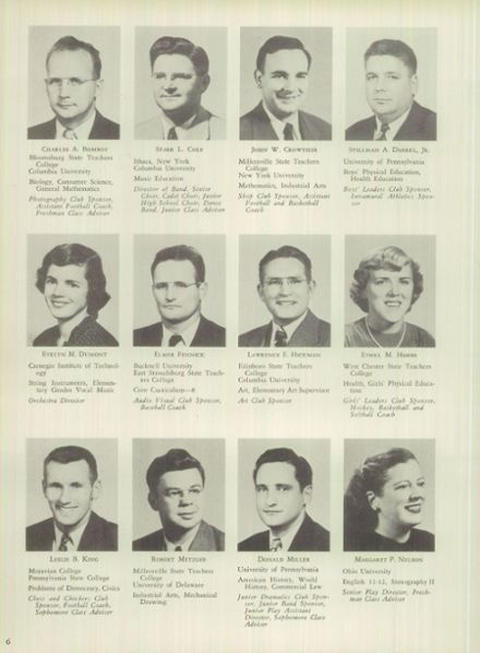 1950 Mt. Pleasant High School Yearbook Page 6