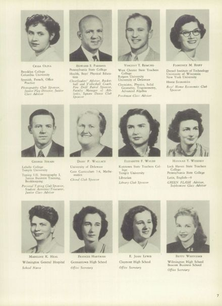 1950 Mt. Pleasant High School Yearbook Page 7